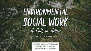 Environmental Social Work: A Call to Action – Webinar