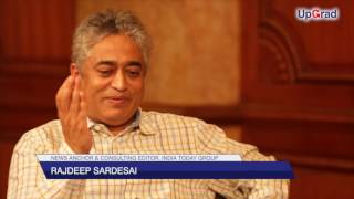 Rajdeep Sardesai, India Today On His Journey to Journalism at UpGrad Talks